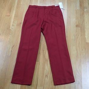 Pendleton Red Lined 100% Wool Career Pant Petite